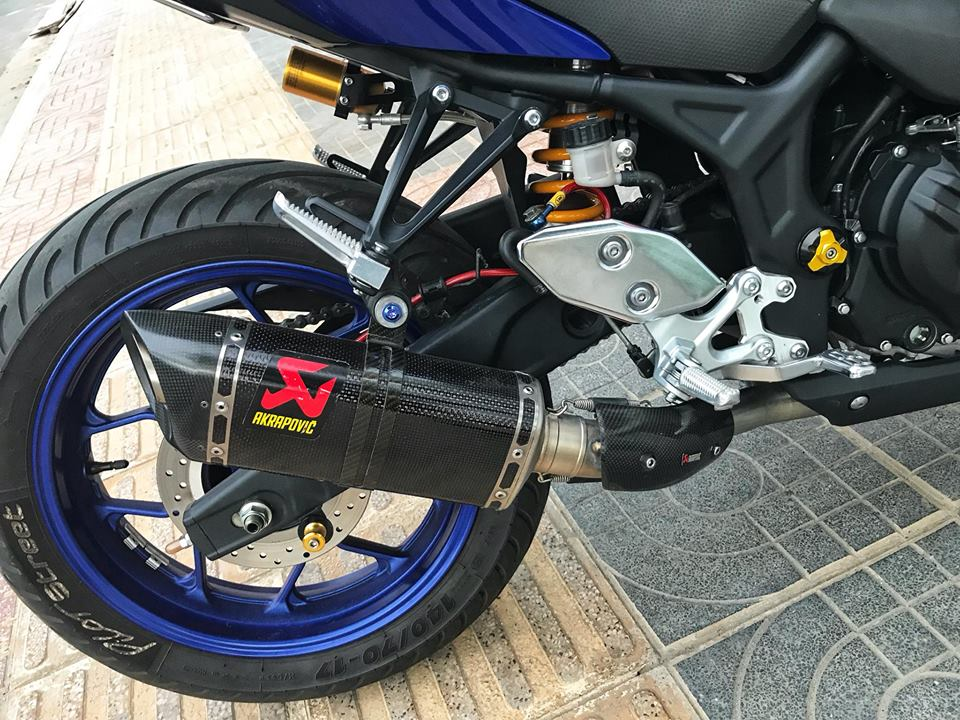 Yamaha R3 mau Sport city do phong cach Touring cua Biker Viet - 9