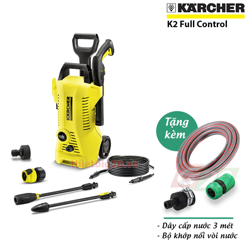 BAN MAY RUA XE CO CHINH AP KARCHER MADE IN GERMANY