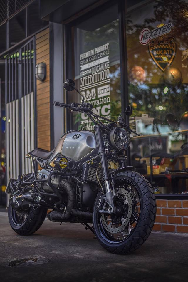 Bmw RnineT don theo phong cach Tracker style day me hoac - 3