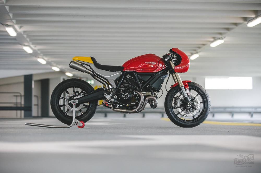 Ducati Scrambler 1100 ban do Cafe Racer den tu DeBolex - 13