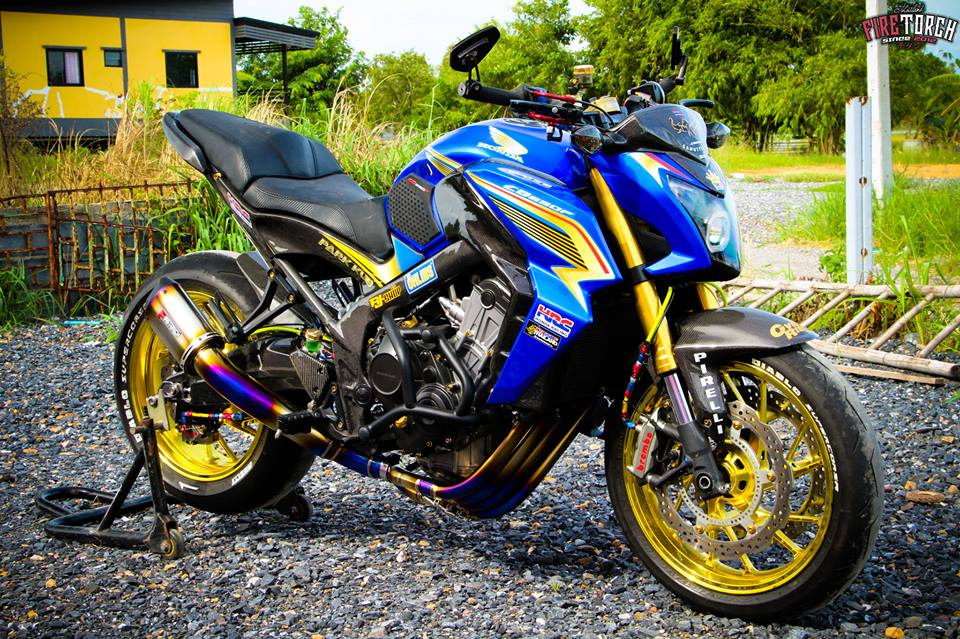 Honda CB650F day noi bat voi trang bi sac so