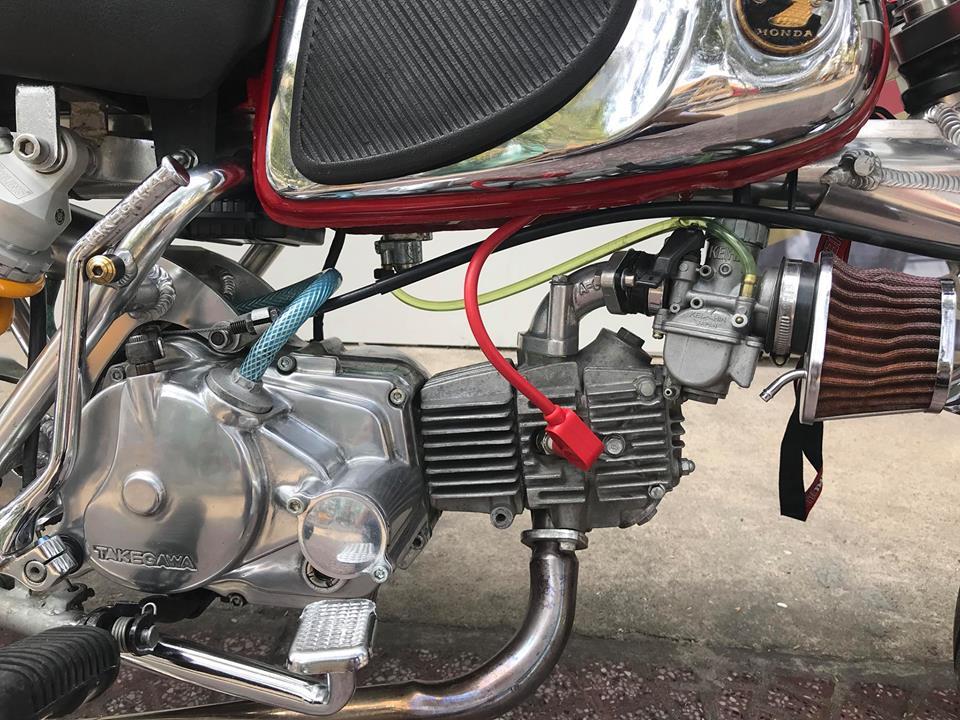 Honda Monkey 50cc Chu lun nhat ban niem dam me cua Nu Biker Viet - 8