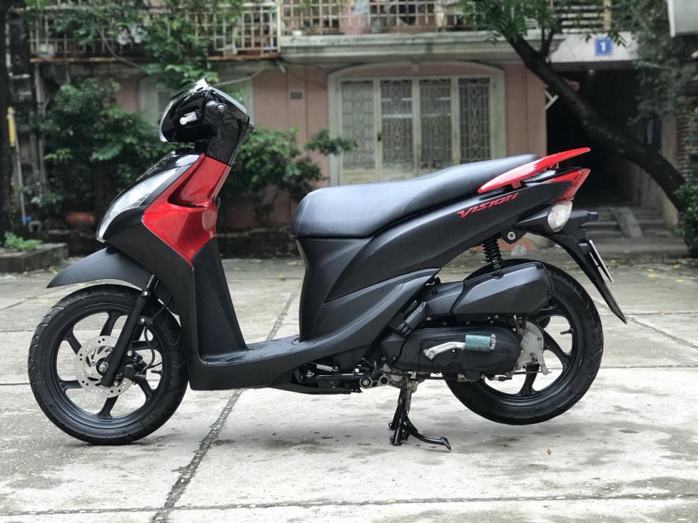 Honda Vision phien ban dac biet mau Do Den chinh chu - 4