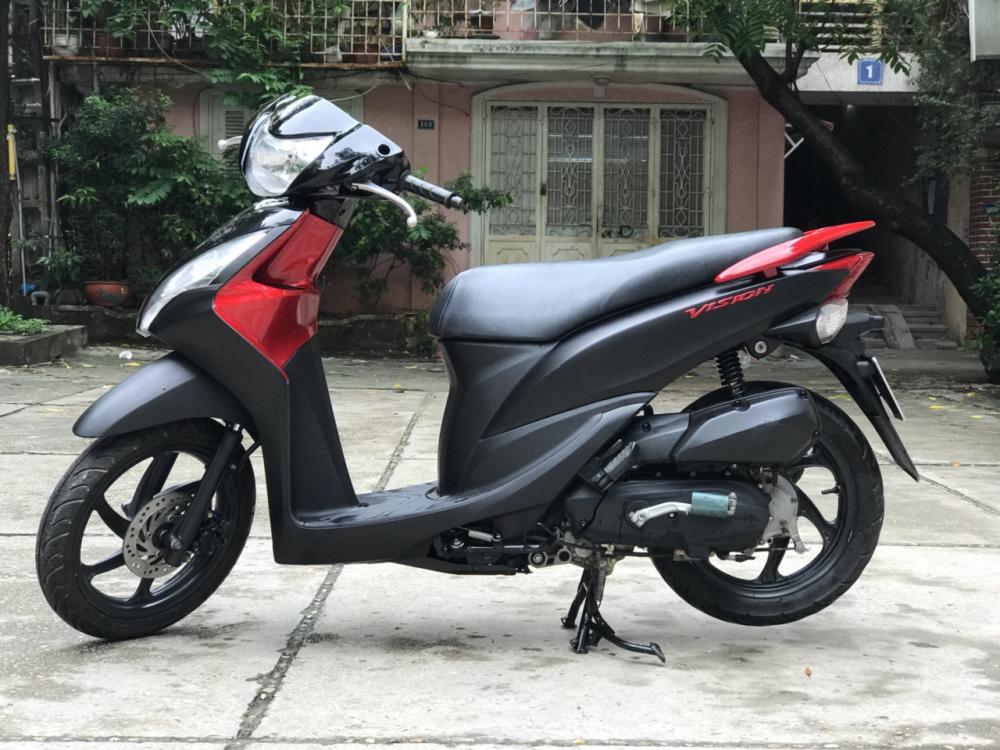 Honda Vision phien ban dac biet mau Do Den chinh chu - 5