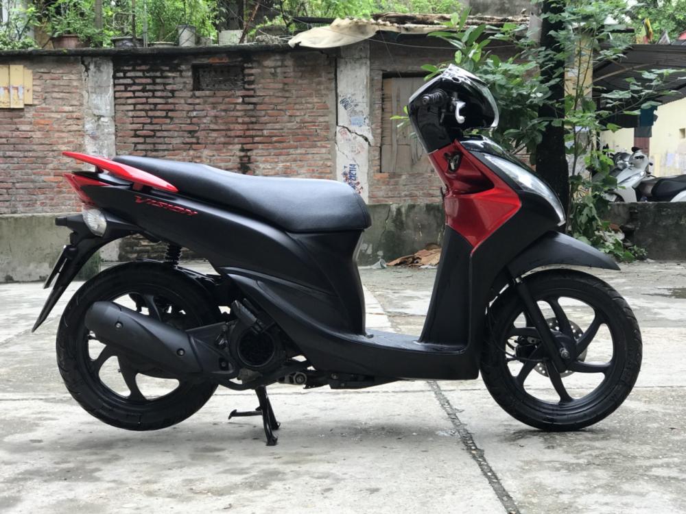 Honda Vision phien ban dac biet mau Do Den chinh chu - 7