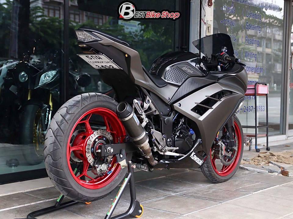 Kawasaki Ninja 300 do kich doc voi than hinh Matte Black - 12