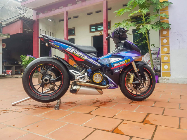 Exciter 150 do dat giai nhi Fest 2018 mien Bac voi dan chan Ducati 1299 panigale S - 3