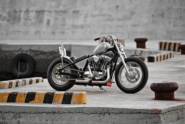 HarleyDavidson Sportster XL1200 an tuong voi ban do Bobber GREY MATTER
