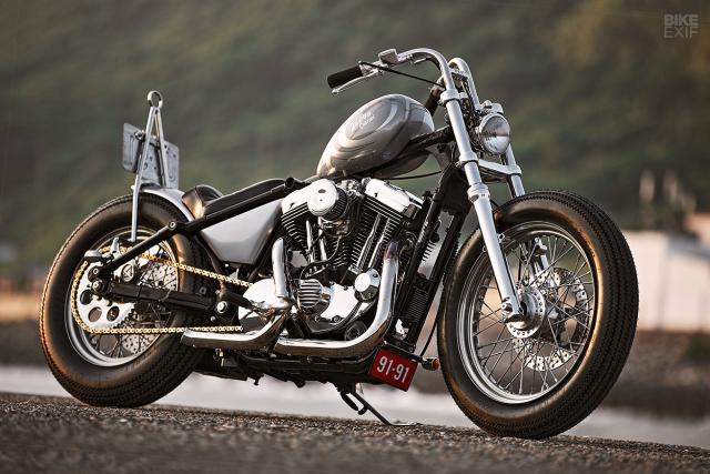 HarleyDavidson Sportster XL1200 an tuong voi ban do Bobber GREY MATTER - 7