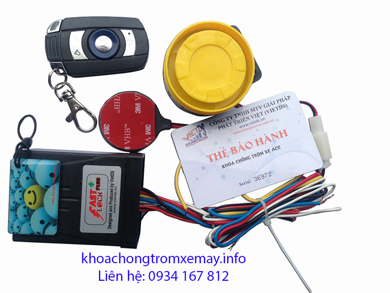 KHOA CHONG TROM XE FAST LOCK PLUS - 13