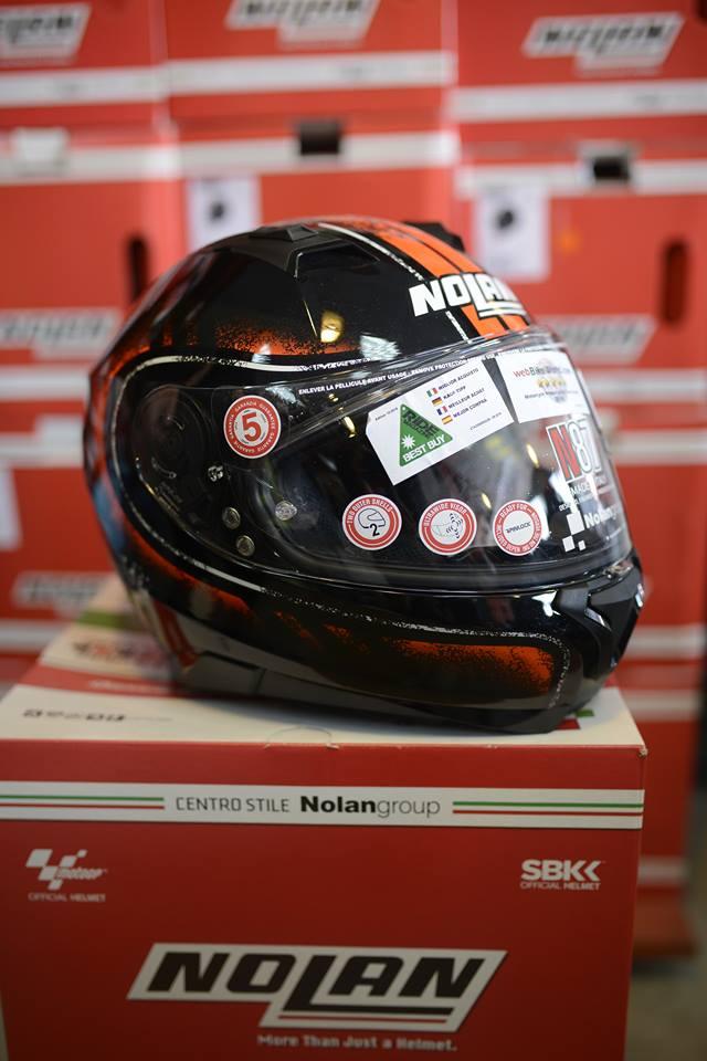 Nolan N87 Fulgor Metal Black Orange - 7