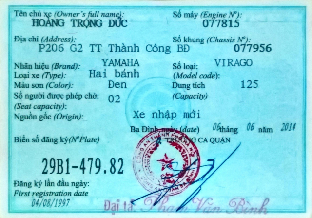 Can ban xe chinh chu Yamaha 1997 Virago 125cc theo dang ky - 5