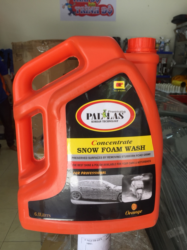 Dung Dich Rua xe PALLAS Concentrate Snow Foam Wash gia re bat ngo