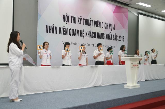 Honda Viet Nam to chuc Hoi thi Ky thuat vien Dich vu Nhan vien Quan he Khach hang xuat sac 2018
