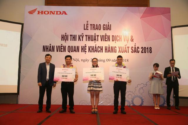 Honda Viet Nam to chuc Hoi thi Ky thuat vien Dich vu Nhan vien Quan he Khach hang xuat sac 2018 - 3