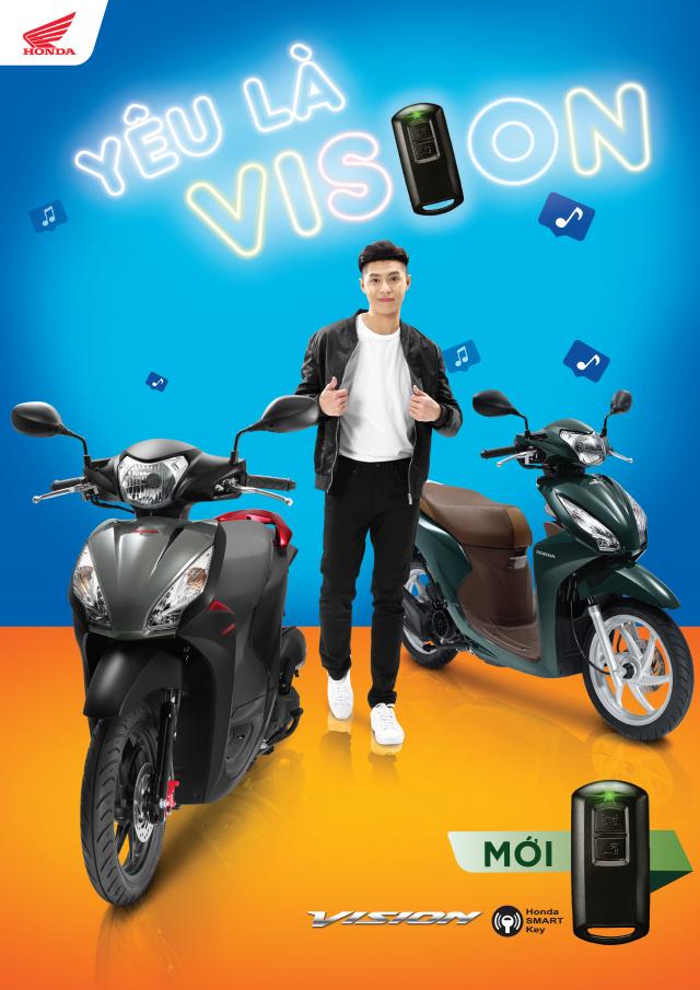 Honda Vision 2019 trang bi them khoa Smartkey mat dong ho moi gia tang nhe