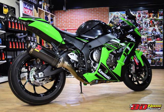 Kawasaki ZX10R do don gian day tinh te voi dan chan aluminim kich doc