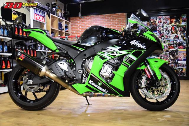Kawasaki ZX10R do don gian day tinh te voi dan chan aluminim kich doc - 12