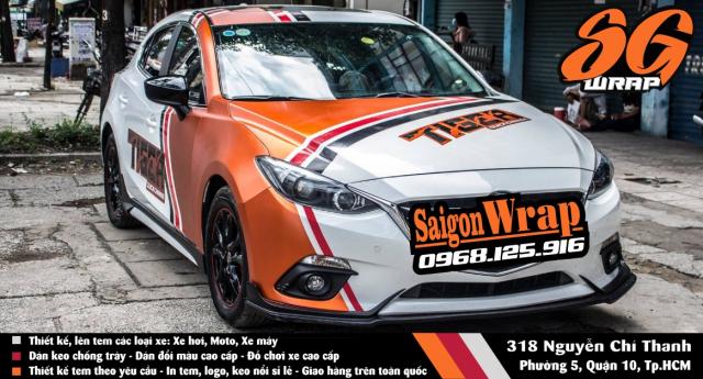 Mau Tem The Thao Doc Dao Cho Mazda 3 2018 SaiGonWRAP Design Tem Xe Hoi