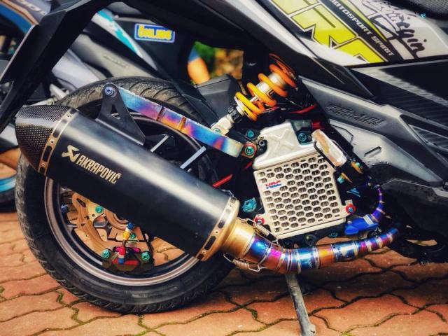 Vario 150 do phuoc xeo phong cach Ducati vua ra mat ban do moi - 8