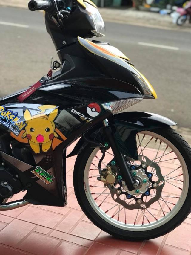 Nhin ngam Exciter 150 do phong cach Pikachu Racing sieu de cung - 6