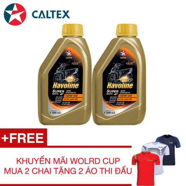 NHOT XE MAY TAY GA BON THI HIEU NANG CAO Havoline SuperMatic 4T SemiSynthetic SAE 10W40 - 2