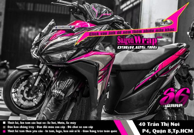 Tem Che Vario Click 2018 Dep Doc SaiGonWRAP Design Thi Cong Tem Xe Chuyen Nghiep