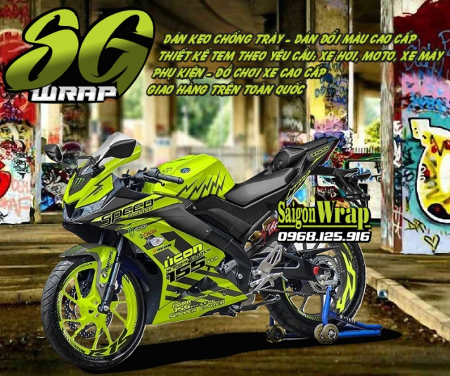 Tem Che Yamaha R15 V3 Dep Doc SaiGonWRAP Design Thi Cong Tem Xe Chuyen Nghiep - 3
