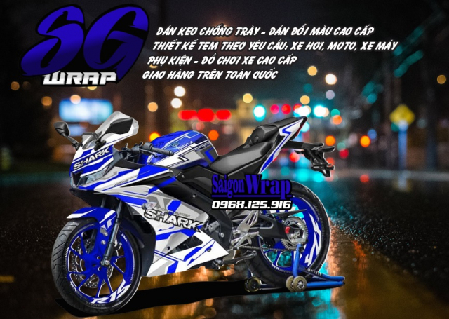 Tem Che Yamaha R15 V3 Dep Doc SaiGonWRAP Design Thi Cong Tem Xe Chuyen Nghiep - 13