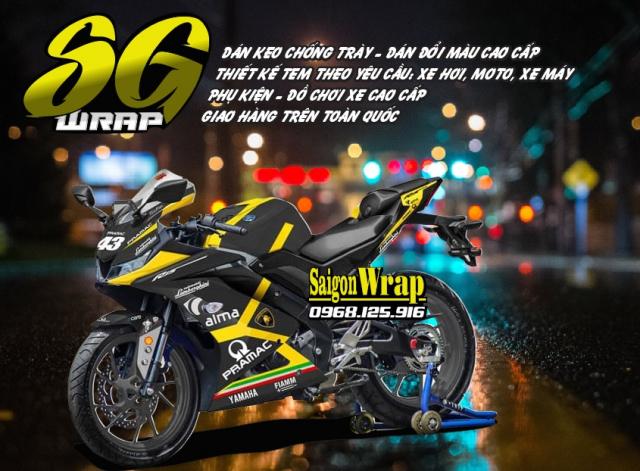 Tem Che Yamaha R15 V3 Dep Doc SaiGonWRAP Design Thi Cong Tem Xe Chuyen Nghiep - 18