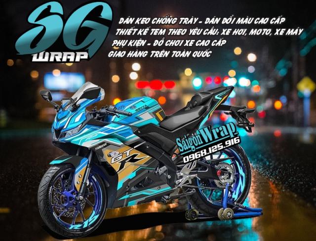 Tem Che Yamaha R15 V3 Dep Doc SaiGonWRAP Design Thi Cong Tem Xe Chuyen Nghiep - 25