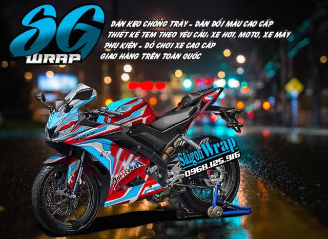 Tem Che Yamaha R15 V3 Dep Doc SaiGonWRAP Design Thi Cong Tem Xe Chuyen Nghiep - 26