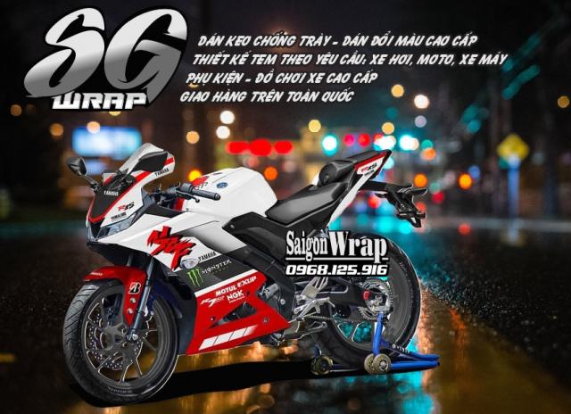 Tem Che Yamaha R15 V3 Dep Doc SaiGonWRAP Design Thi Cong Tem Xe Chuyen Nghiep - 39