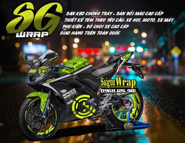 Tem Che Yamaha R15 V3 Dep Doc SaiGonWRAP Design Thi Cong Tem Xe Chuyen Nghiep - 38