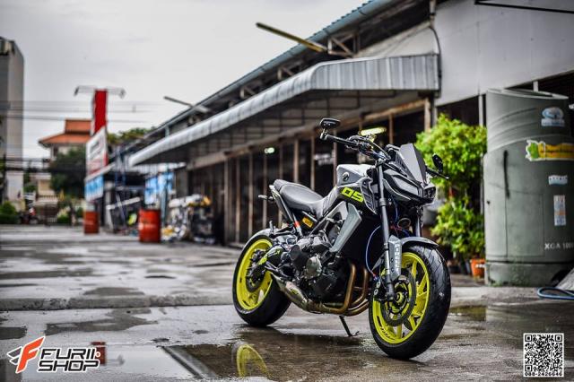 Yamaha MT09 nang cap kha tuoi tan tren dat Thai