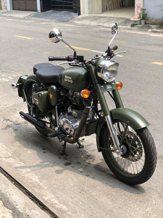 __ Can Ban xe Royal Enfield Battle Green 500cc Mau xanh quan doi la mau nguyen thuy cua Royal Enfie - 2