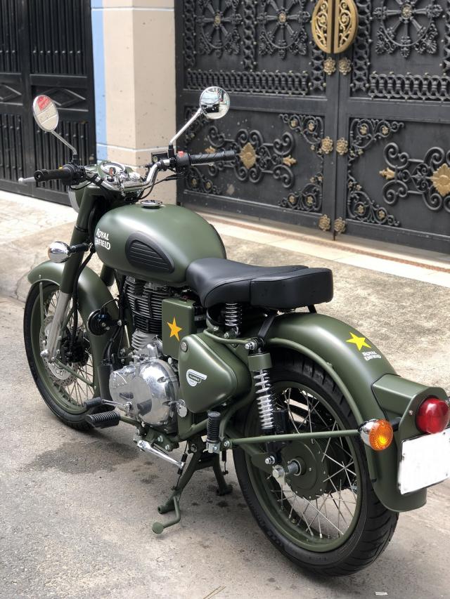 __ Can Ban xe Royal Enfield Battle Green 500cc Mau xanh quan doi la mau nguyen thuy cua Royal Enfie - 4