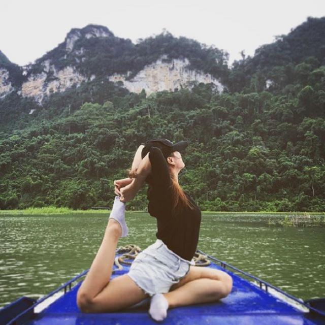 Bo tui kinh nghiem du hi vien ngoc bich giua dai ngan Ho Ba Be - 2