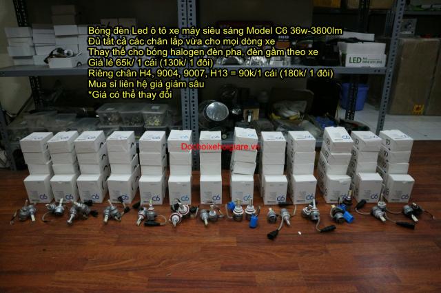 Bong den Led pha o to xe may sieu sang the he moi Model C6 - 6