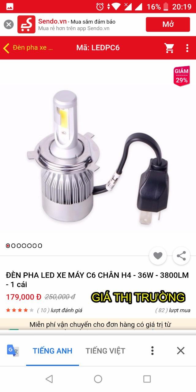 Bong den Led pha o to xe may sieu sang the he moi Model C6 - 27