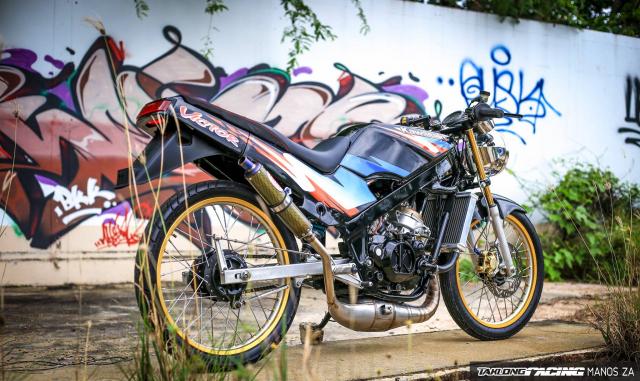 Ha hoc voi Kawasaki Victor 150 do dinh khoe dang ben son Grunge Graffiti - 6