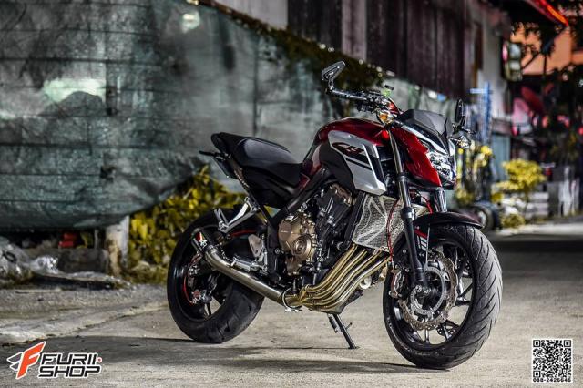 Honda CB650F do com can voi dan chan hang hieu