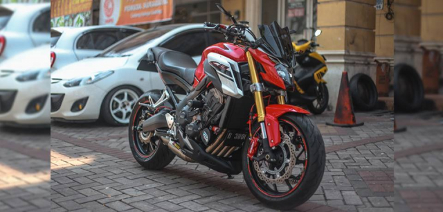 Honda CB650F man ma voi dan option Accossato