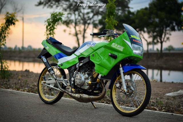 Kawasaki Kips 150 chien binh xanh la mang doi chan sieu khiep - 6