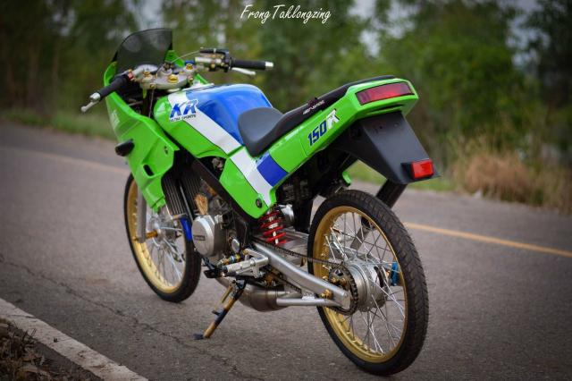 Kawasaki Kips 150 chien binh xanh la mang doi chan sieu khiep - 8