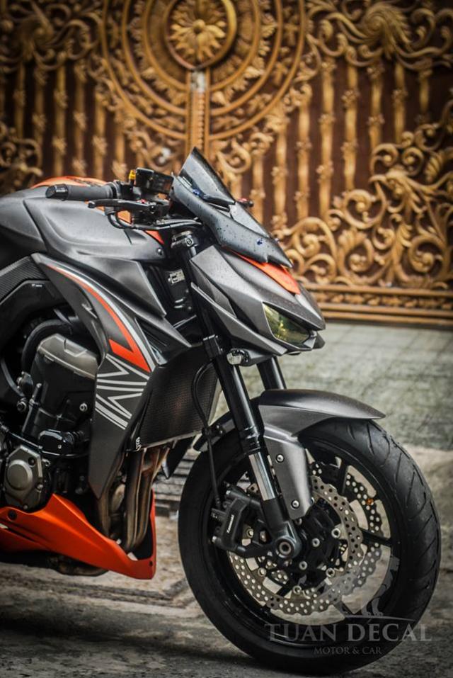 Kawasaki Z1000 Ga quai vat manh me tren dat Viet voi Sticker full nhom xuoc - 6