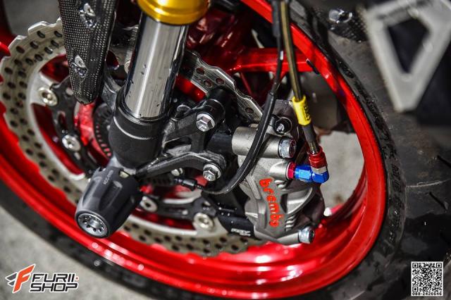 Kawasaki Z900 ruc lua voi phong cach Red Candy - 10