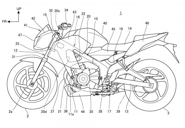 Lo hinh anh thiet ke khung suon moi cua Honda CB250F 2019 - 3