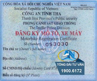 Sang ten dang ky o to xe may dung ten cong ty