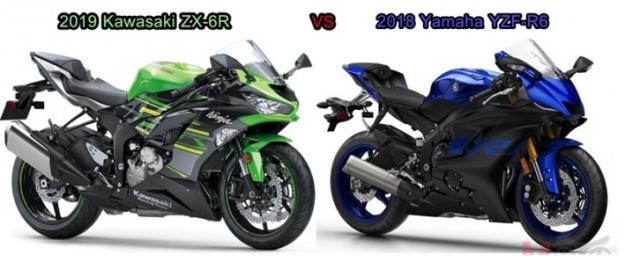 So sanh giua Kawasaki ZX6R 2019 va Yamaha R6 2018